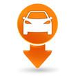 voiture sur signet orange