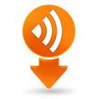 réseau sur signet orange