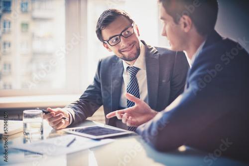 Interacting at meeting