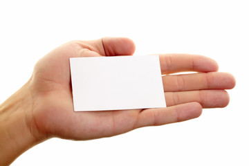 Showing blank card
