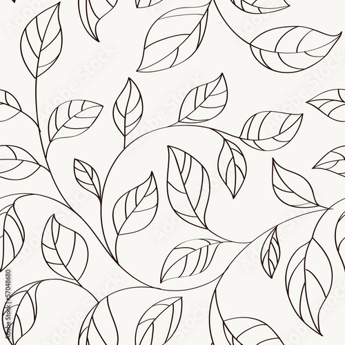 Pattern with leaves - 57048680