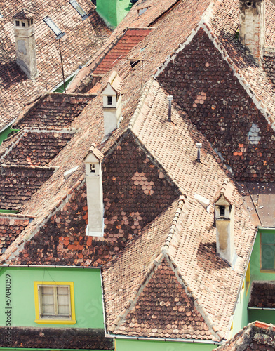 Neighbouring rooftops