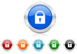 padlock icon vector set