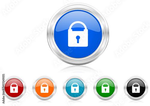 padlock icon vector set