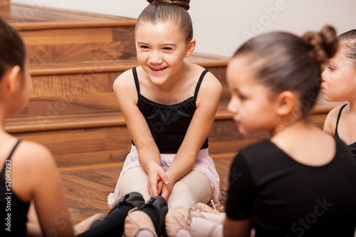 Having fun during dance class