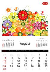 Floral calendar 2014, august