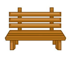 Wooden bench isolated illustration