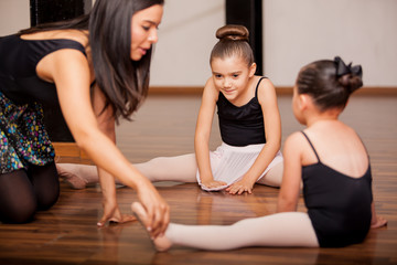 Dance students and teacher in class