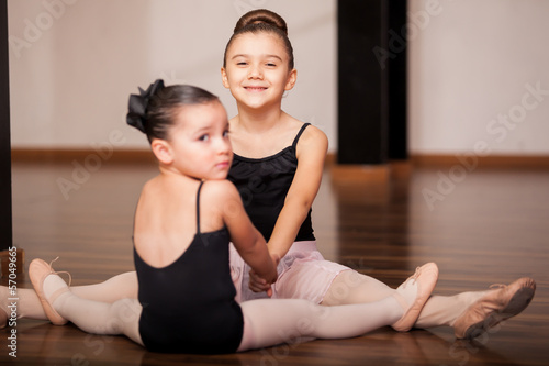 Having fun at dance class