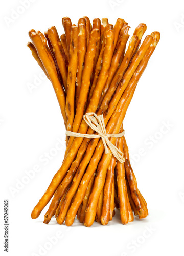 salty sticks isolated on white