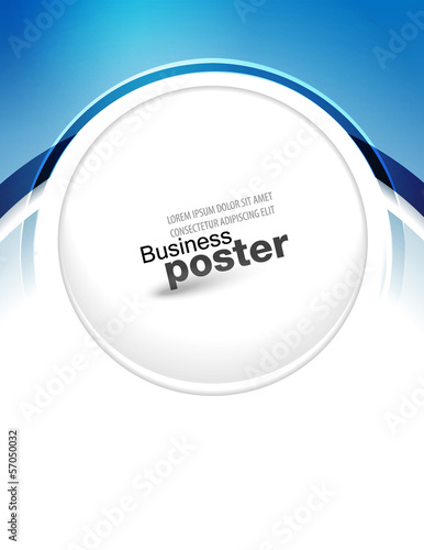Stylish presentation of business poster. Design layout template