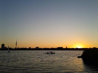 Urbaner Sonnenuntergang