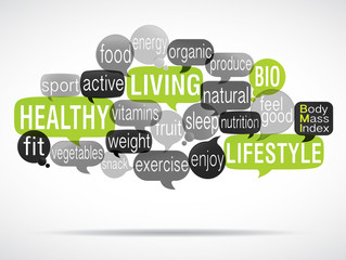 word cloud : healthy living green