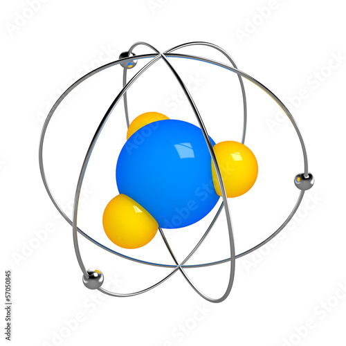 Digital illustration of atom