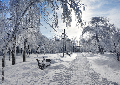 Winter park, scenery - 57052240