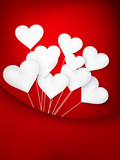 Valentines Day Heart Balloons. EPS 10
