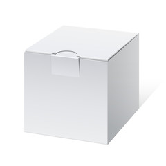 Cool Realistic White Package cube Box