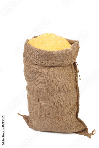 Sack with corn flour.