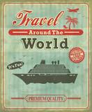 Vintage Travel around the world poster design poster