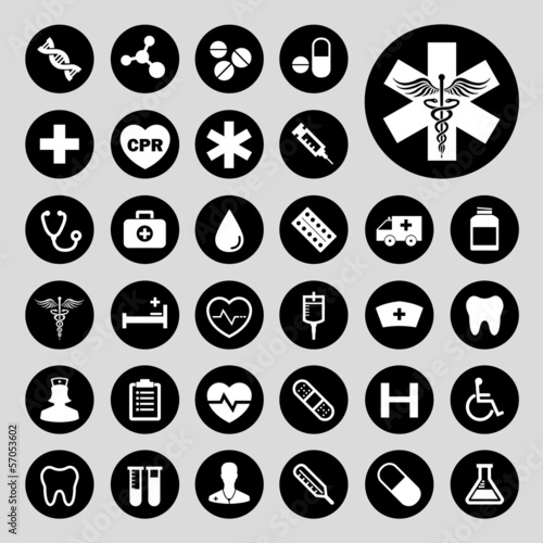 Collection of medical vector icons