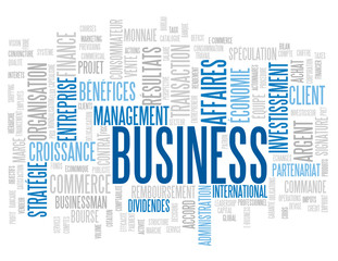 "Nuage de Tags ""BUSINESS"" (affaires argent commerce finance b2b)"