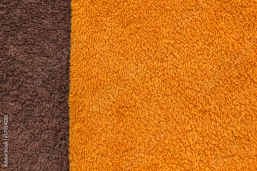 Orange and brown towel texture.