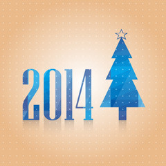 vectorial blue New Year's card_2