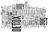 Detox and loosing weight related concepts poster