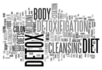 Detox and loosing weight related concepts