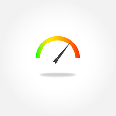 Coloruful Tachometer icon