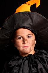 bambino mascherato per halloween