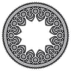 Round openwork lace border.