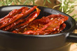Sun dried tomatoes with olive oil