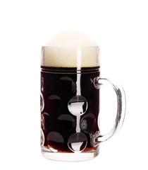 Big mug with brown beer.