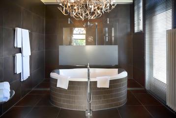 luxury bathroom in hotel