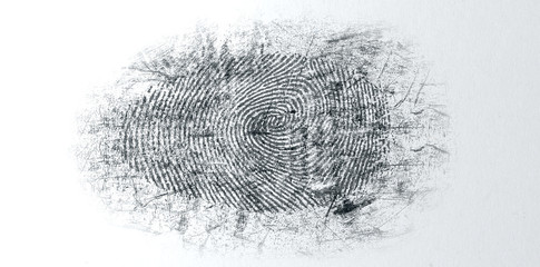 Dusted Crime Scene Fingerprint