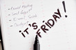 it is friday the day before weekend