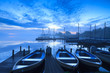 Blue hour at marina