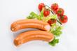 Wurstel con insalata e pomodorini