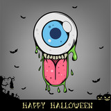 Halloween Eyeball Monster