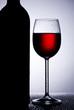 Weinglas im Gegenlicht