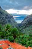 View from Masca village to the canyon and mountains, Tenerife, C