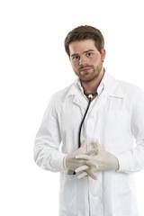 Schutz gegen Infektionen mit Handschuhe