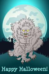 Werewolf on a full moon