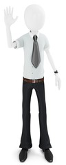 3d business man waving hand,  meeting new people