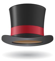 cylinder hat ector illustration