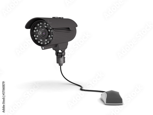 Video surveillance camera and computer mouse
