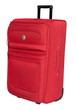 Red textile suitcase