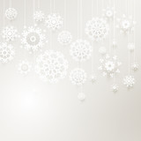 Elegant background with snowflakes. EPS 10