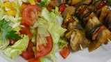 fish shashlik with vegetable